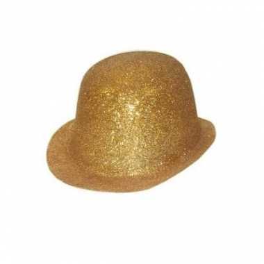 Glitter bling bling bolhoedjes goud