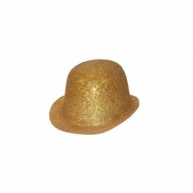 Glitter feest bolhoed met gouden glitters