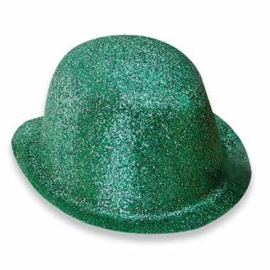 Feest bolhoed met groene glitters