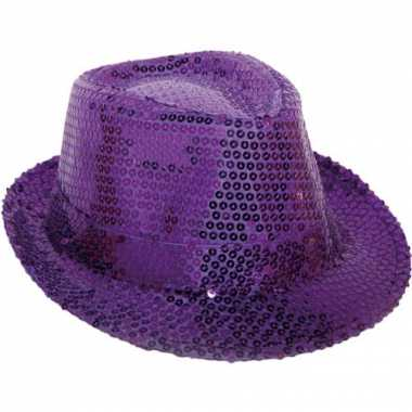 Glitter hoedjes paars