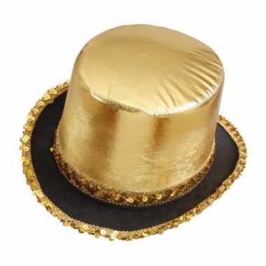 Glitter hoge gouden hoeden