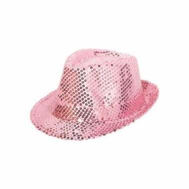 Roze glitterhoedjes