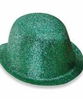 Glitter feest bolhoed met groene glitters